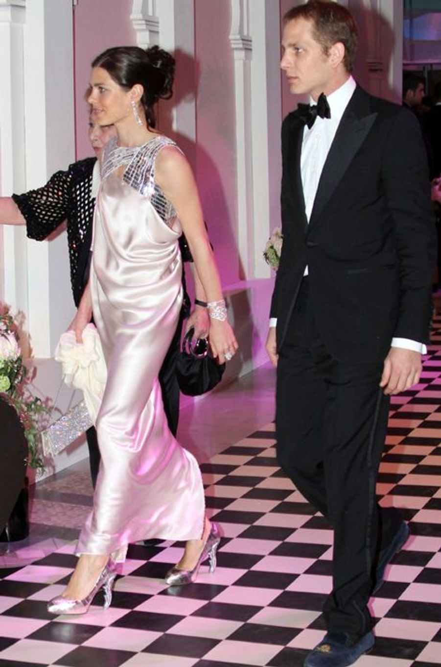 Charlotte Casiraghi avec Andrea Casiraghi, le 27 mars 2010