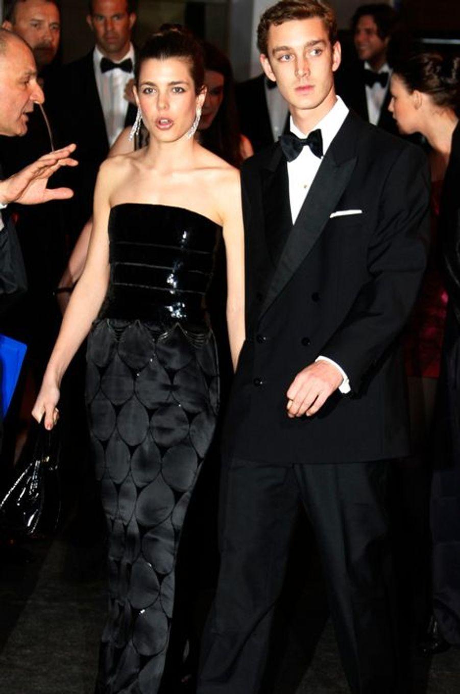 Charlotte Casiraghi avec Pierre Casiraghi, le 28 mars 2009