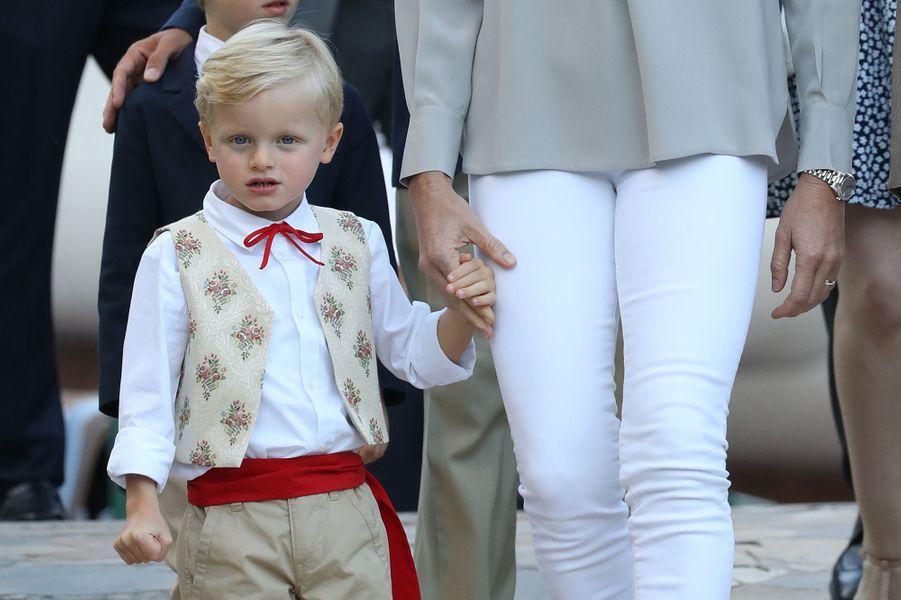 Le prince Jacques de Monaco, à Monaco le 31 août 2018