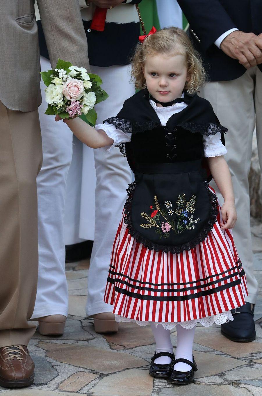 La princesse Gabriella de Monaco, à Monaco le 31 août 2018