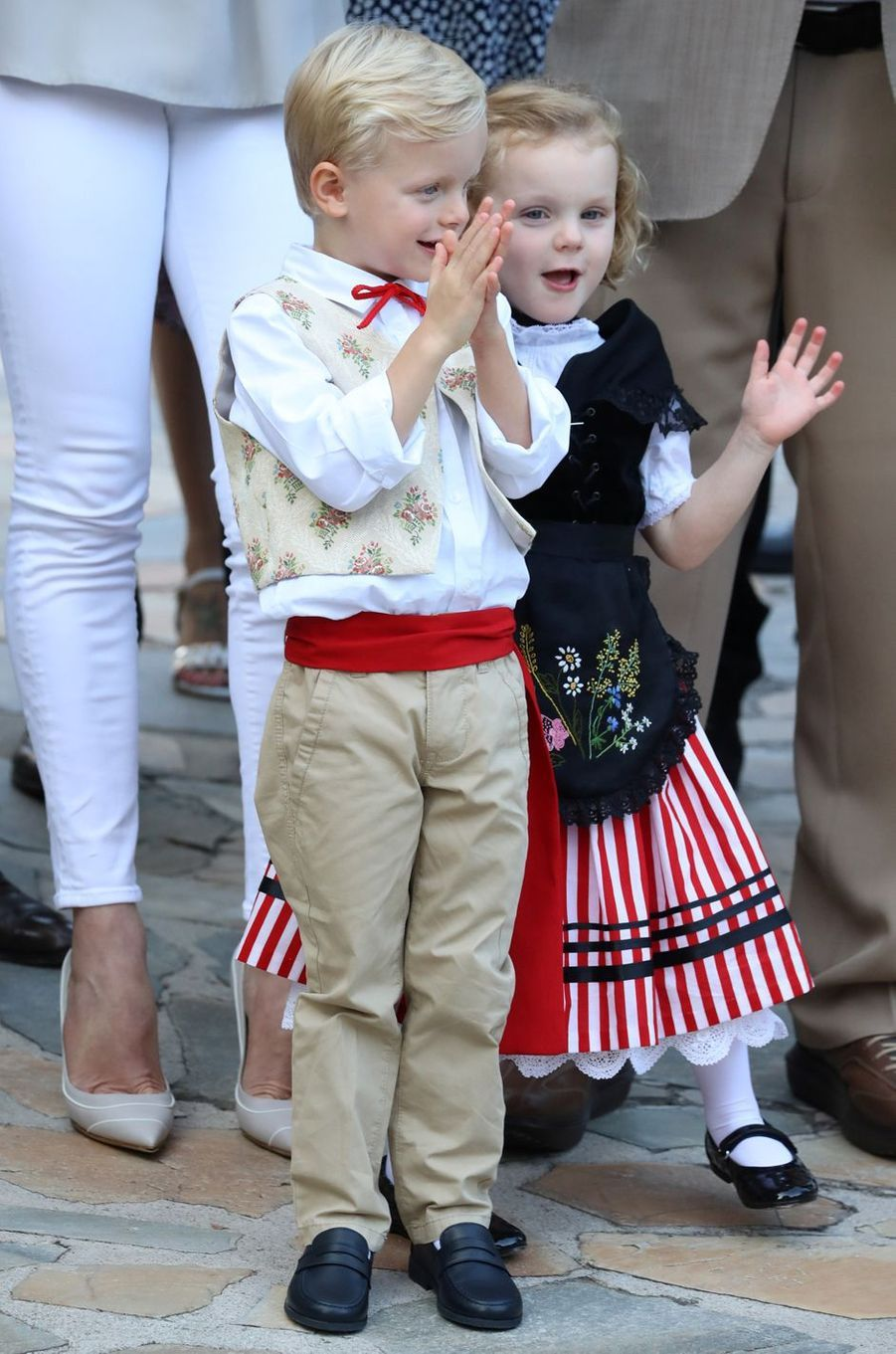 Le prince Jacques et la princesse Gabriella de Monaco, à Monaco le 31 août 2018