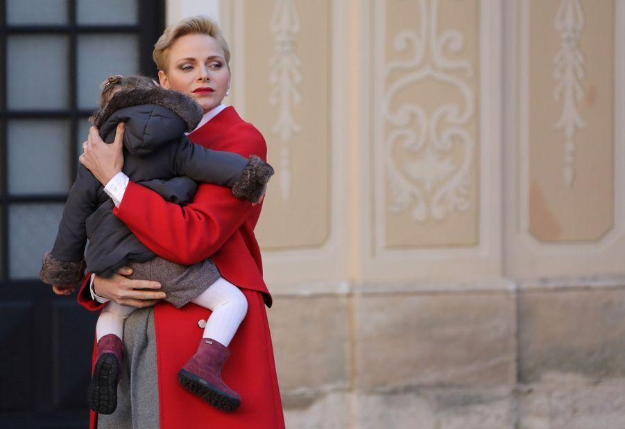Charlène De Monaco, Le Prince Albert Et Leurs Jumeaux Gabriella Et Jacques À L'arbre De Noël Du Palais 33