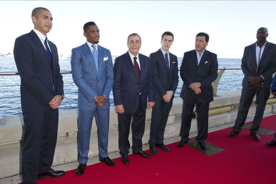 Louis Ducruet et Samuel Eto'o à Monaco, le 21 septembre 2015