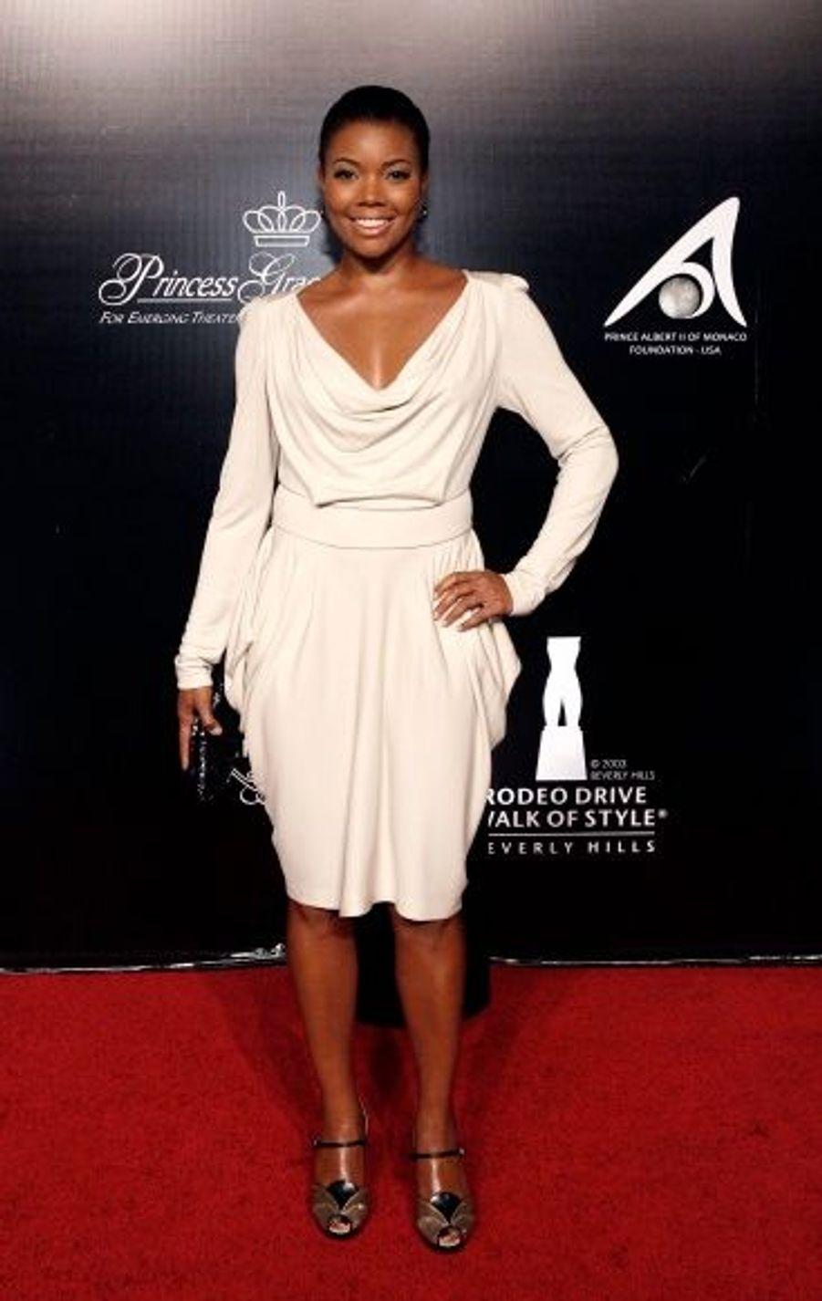 """Gabrielle Union, actrice notamment dans """"Bad Boys 2"""", était également conviée à cette soirée placée sous l'égide de l'élégance."""