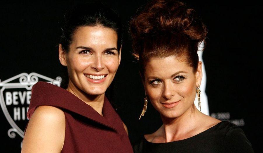 Les belles Angie Harmon et Debra Messing, deux stars de la télévision américaine, ont rivalisé d'élégance sur le tapis rouge.
