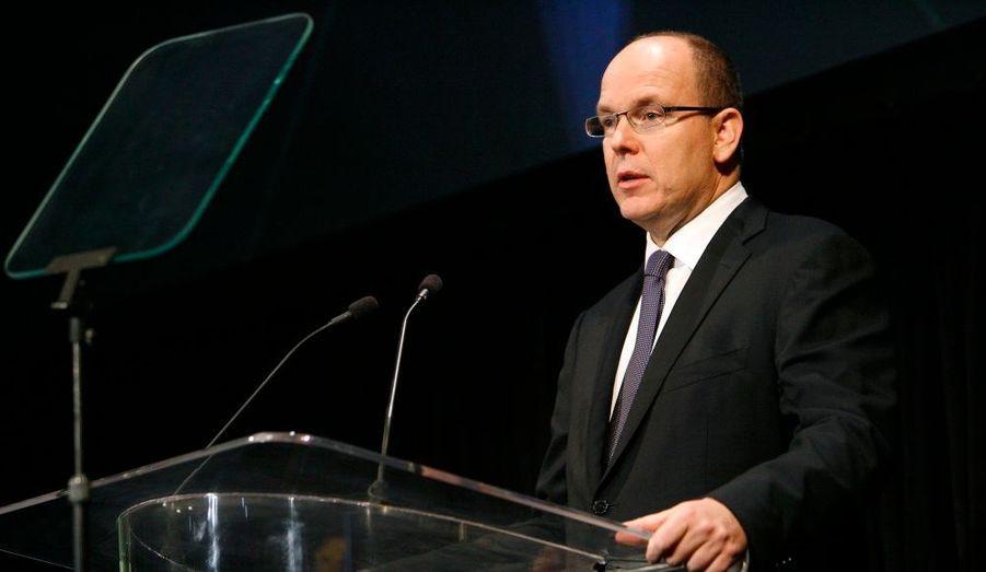 Son altesse sérénissime Albert de Monaco a tenu un discours émouvant lors de la remise du prix.