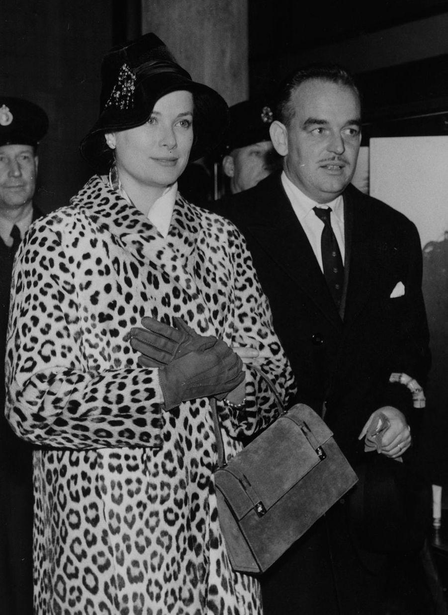 La princesse Grace et le prince Rainier III de Monaco, le 3 novembre 1959