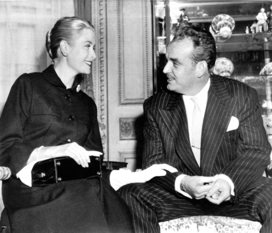 La princesse Grace et le prince Rainier III de Monaco, le 4 septembre 1956