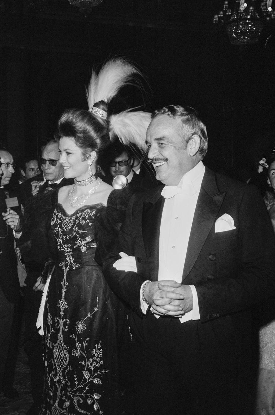 La princesse Grace et le prince Rainier III de Monaco, le 17 mars 1968