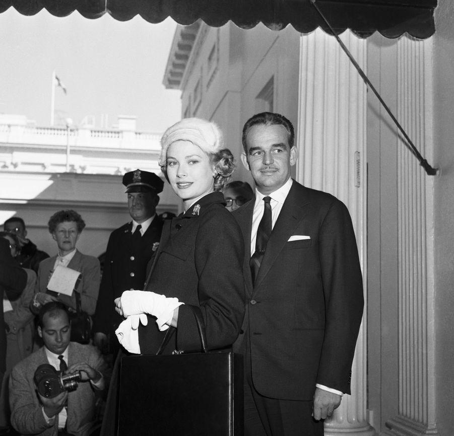 La princesse Grace et le prince Rainier III de Monaco, le 10 novembre 1956