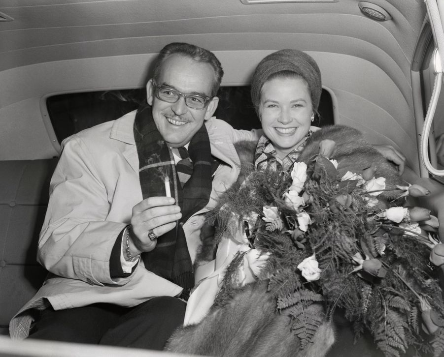 La princesse Grace et le prince Rainier III de Monaco, le 26 novembre 1958