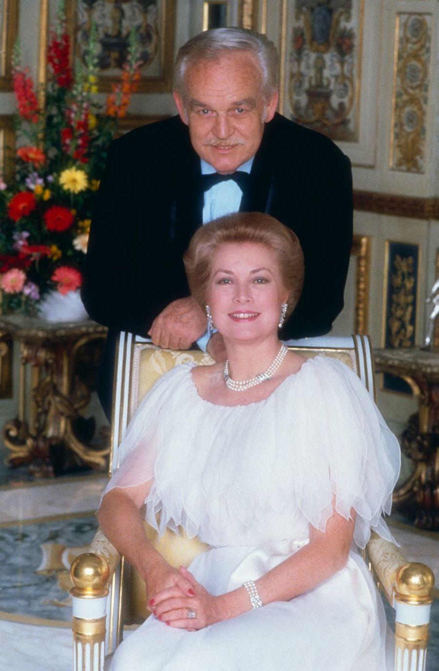 La princesse Grace et le prince Rainier III de Monaco, le 30 mars 1981