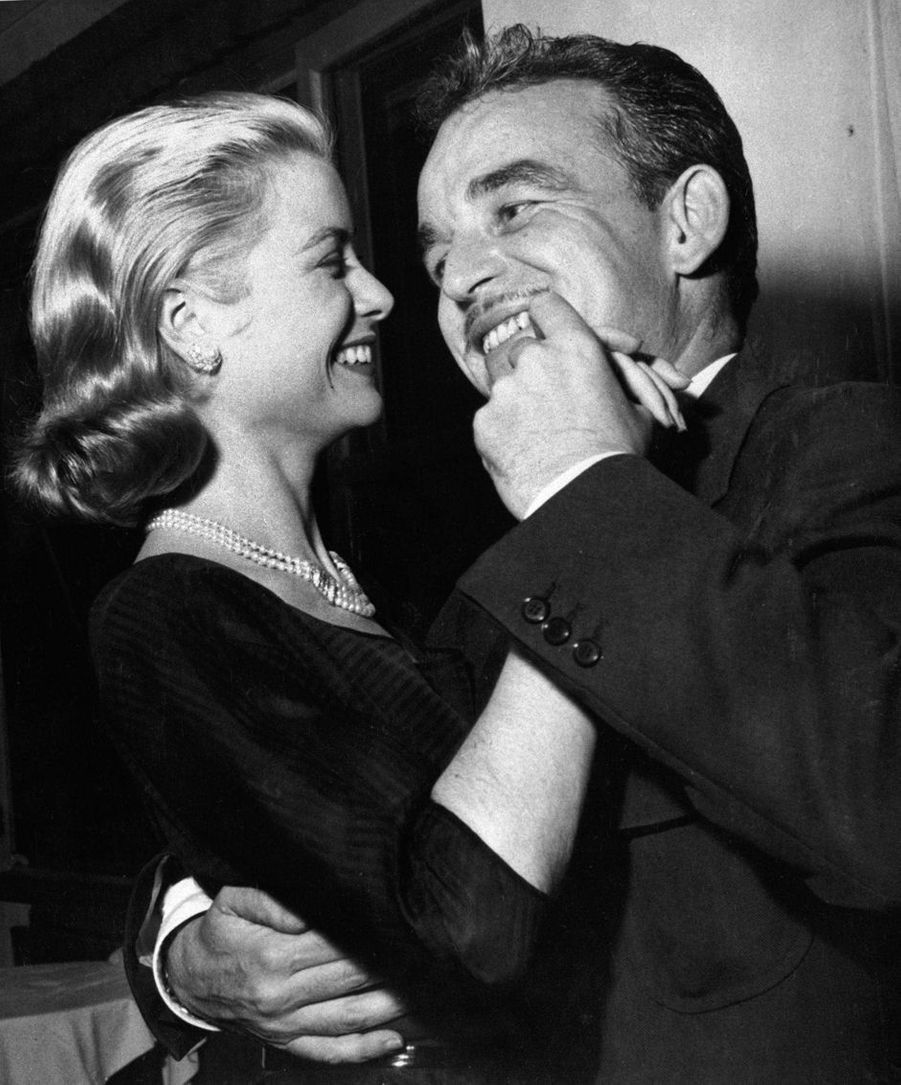 La princesse Grace et le prince Rainier III de Monaco, le 23 avril 1958