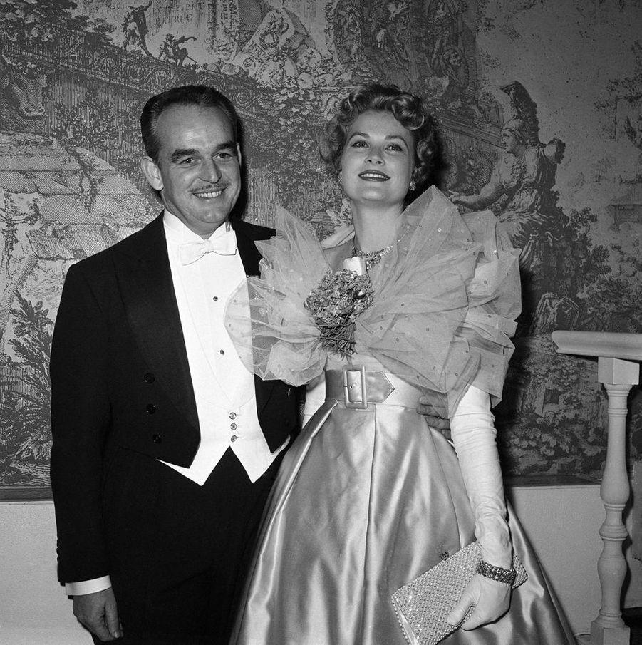 La princesse Grace et le prince Rainier III de Monaco, le 4 décembre 1958