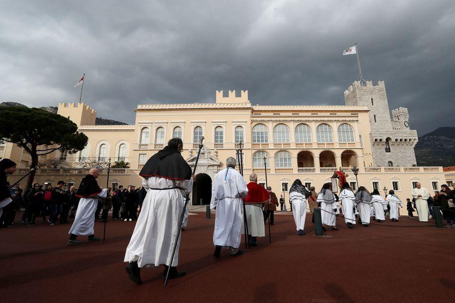 Procession de la Sainte-Dévote à Monaco, le 27 janvier 2017