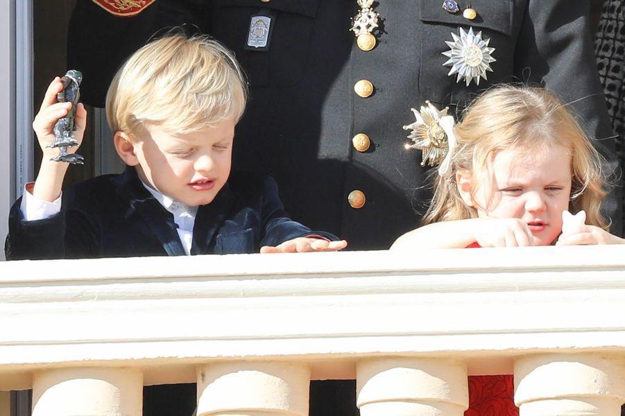 Le prince héréditaire Jacques et la princesse Gabriella de Monaco, à Monaco le 19 novembre 2018