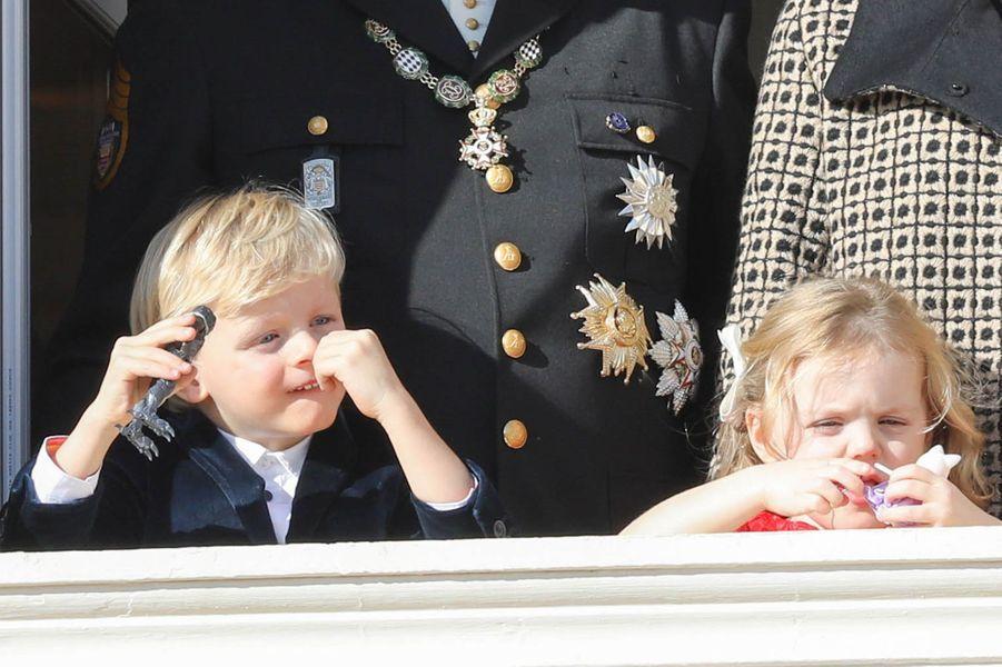 Le prince Jacques et la princesse Gabriella de Monaco, à Monaco le 19 novembre 2018
