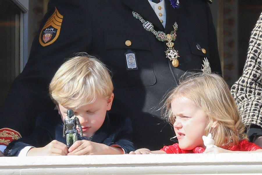Les jumeaux, le prince Jacques et la princesse Gabriella de Monaco, à Monaco le 19 novembre 2018
