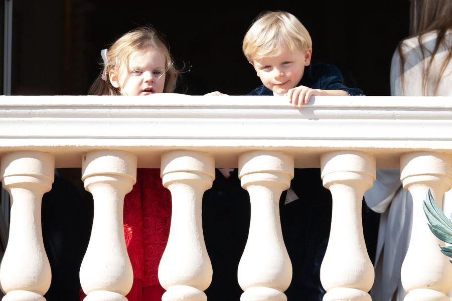 La princesse Gabriella et le prince Jacques de Monaco, à Monaco le 19 novembre 2018