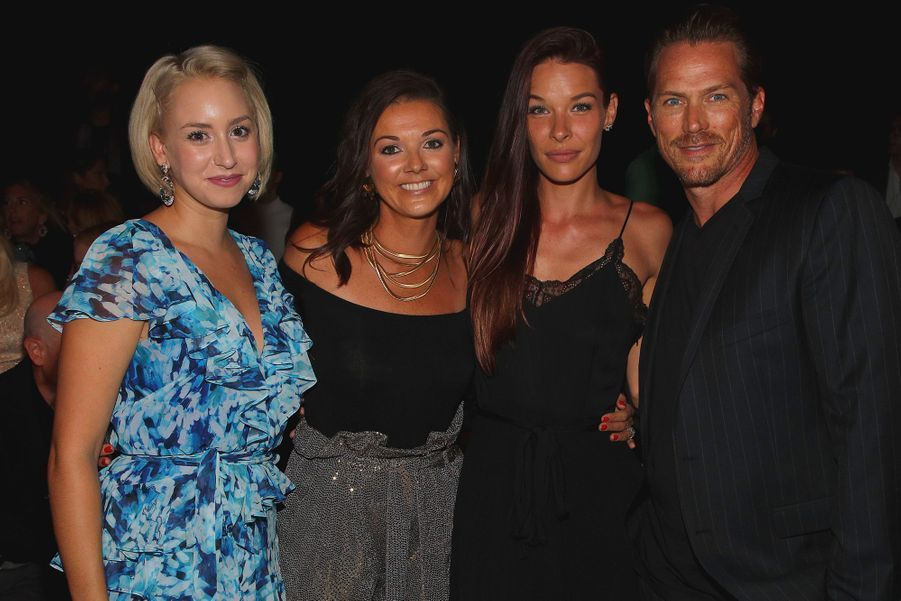 Jazmin Grace Grimaldi, Christine Bell Currence, Liz Godwin et Jason Lewis au défilé Badgley Mischka à New York le 11 septembre 2019