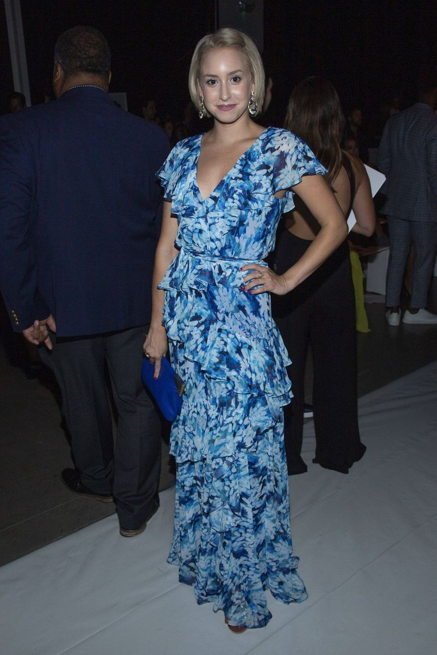 Jazmin Grace Grimaldi au défilé Badgley Mischka à New York le 11 septembre 2019