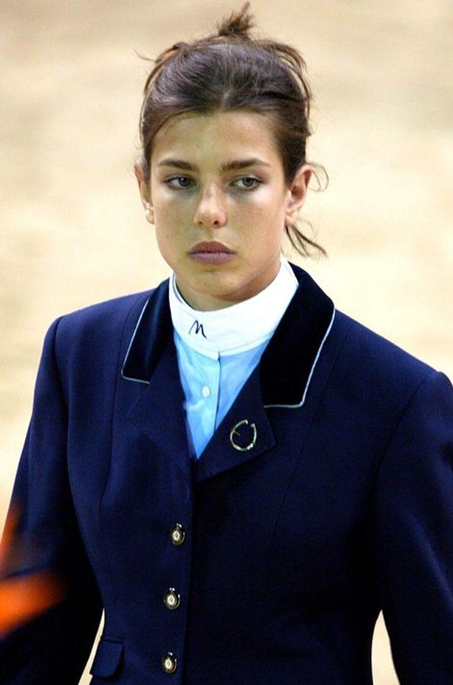Charlotte Casiraghi le 25 avril 2002