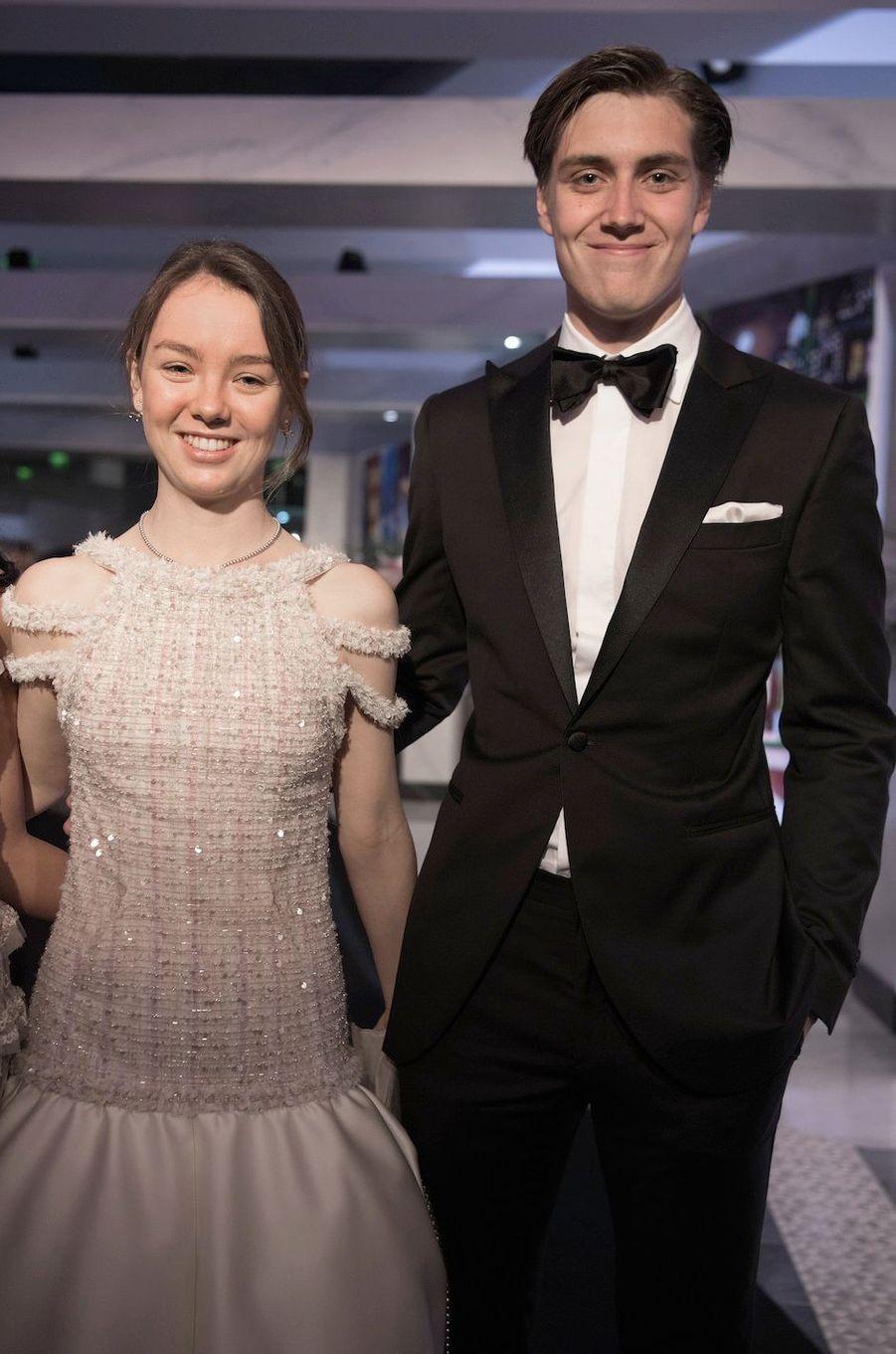 Alexandra de Hanovre et son compagnonBen-Sylvester Strautmann au bal de la rose 2018.