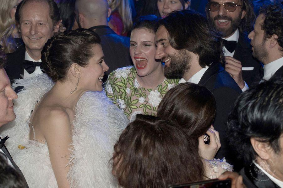 Charlotte Casiraghi et son compagnon Dimitri Rassam lors du bal de la rose 2018, le 24 mars 2018.