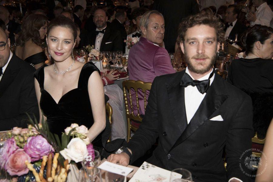 Pierre Casiraghi et Beatrice Borromeo au bal de la rose 2018, le 24 mars 2018.