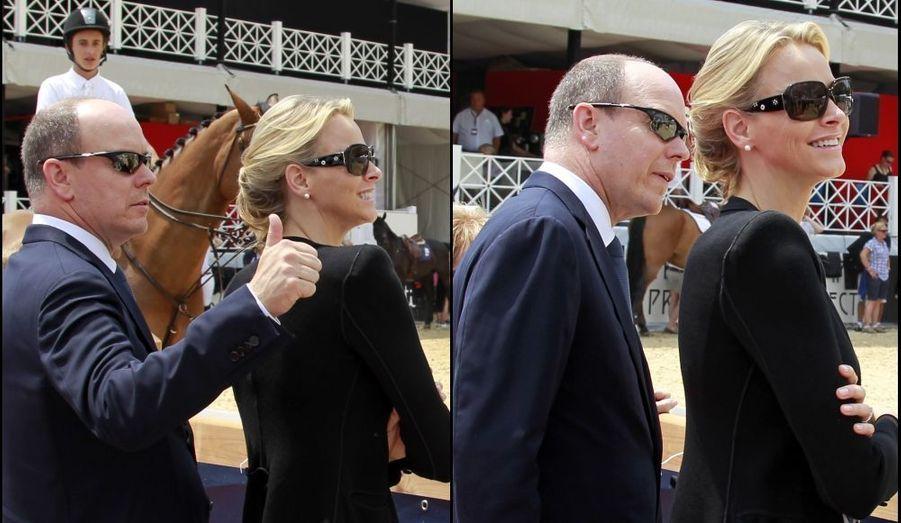 A une semaine de leur grand mariage, Albert et Charlene étaient allés encourager Charlotte Casiraghi au Jumping International de Monte-Carlo.
