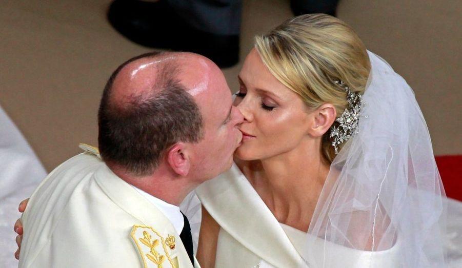 Lors du mariage religieux, le 2 juillet.
