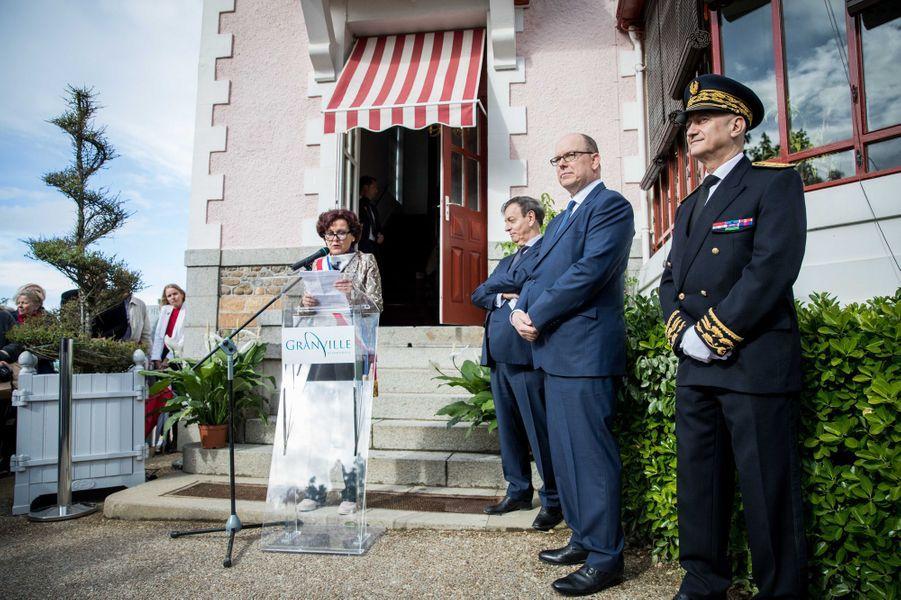 """Le prince Albert II de Monaco à l'inauguration de l'exposition """"Grace de Monaco princesse en Dior"""" au musée Christian Dior à Granville, le 25 avril 2019"""