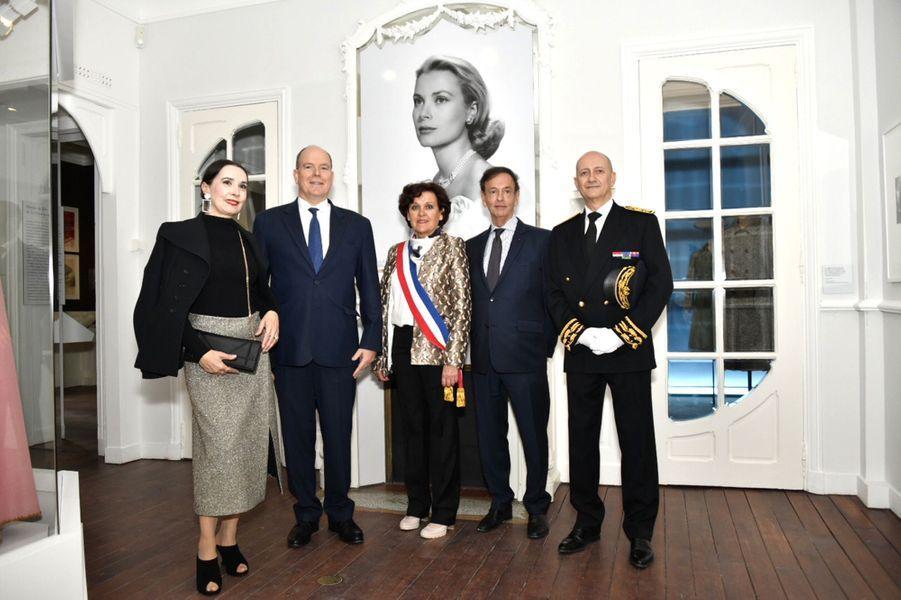 Le prince Albert II de Monaco au musée Christian Dior à Granville, le 25 avril 2019
