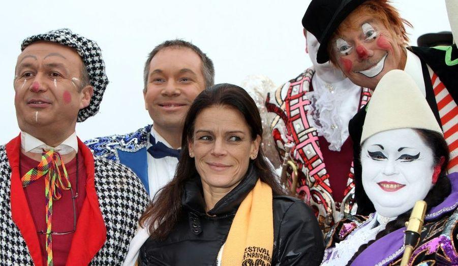 La princesse monégasque a rencontré de nombreux amis plutôt clownesques.
