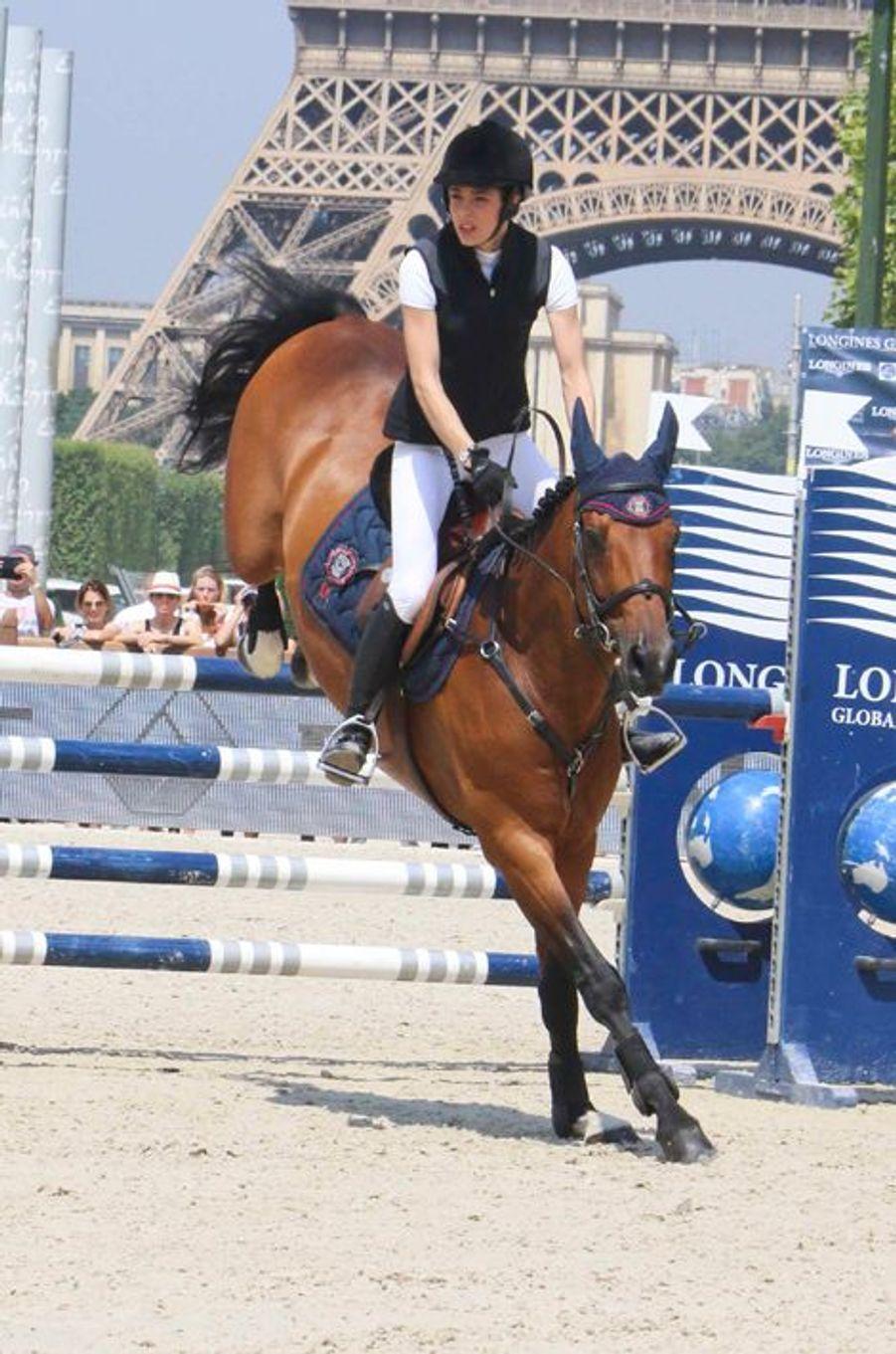 Charlotte Casiraghi au Longines Paris Eiffel Jumping, le 3 juillet 2015