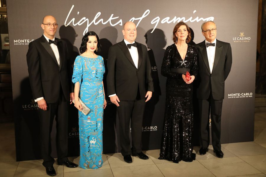 La princesse Caroline de Hanovre et le prince Albert II de Monaco à Monaco, le 19 octobre 2018