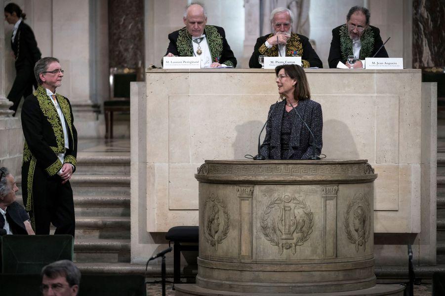 La princesse Caroline de Monaco avec Jiri Kylian à l'Institut de France à Paris, le 13 mars 2019