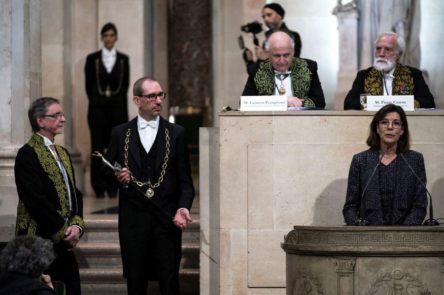 La princesse Caroline de Monaco avec le chorégraphe Jiri Kylian à Paris, le 13 mars 2019
