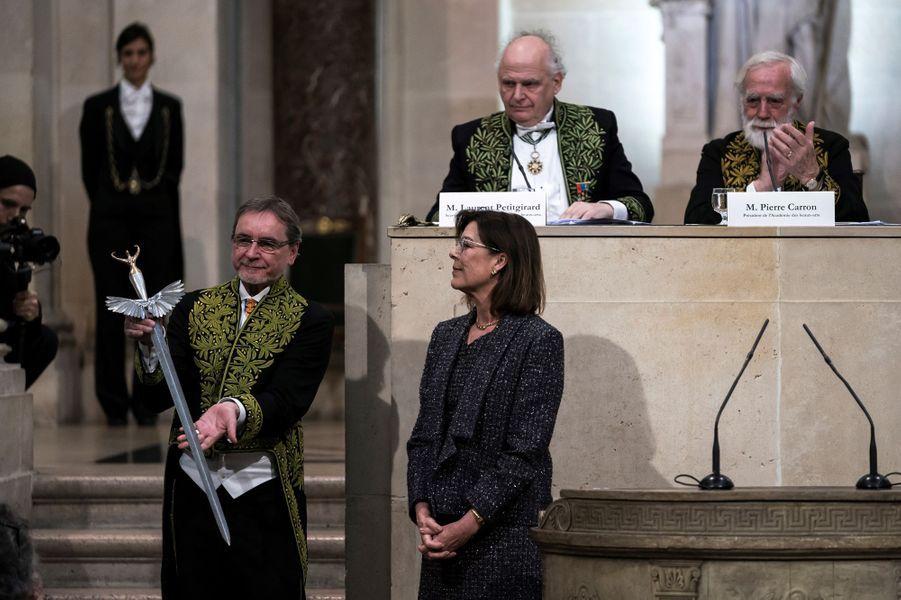 La princesse Caroline de Monaco avec Jiri Kylian à Paris, le 13 mars 2019
