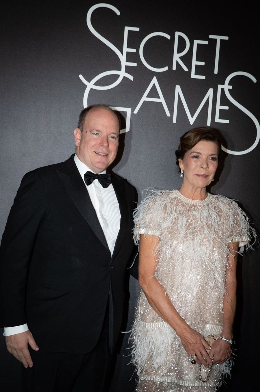 La princesse Caroline de Hanovre et le prince Albert II de Monaco à Monaco, le 5 octobre 2019
