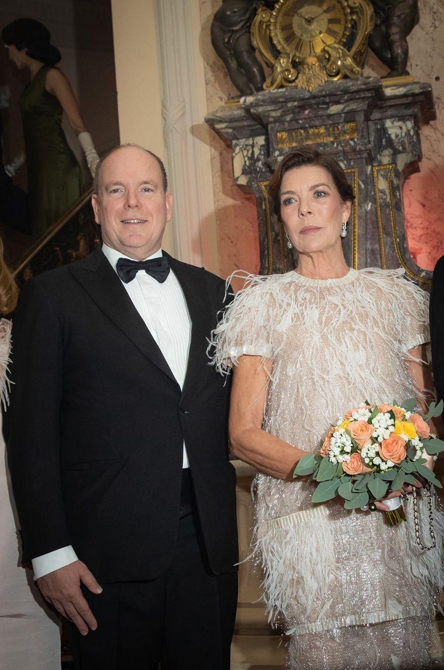 Le prince Albert II de Monaco et la princesse Caroline de Hanovre à Monaco, le 5 octobre 2019