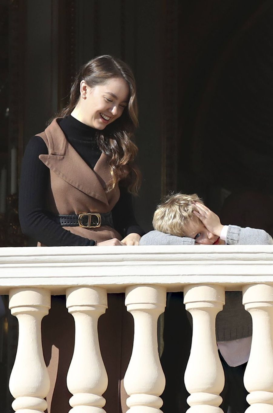Sacha Casiraghi avec sa tante la princesse Alexandra de Hanovre à Monaco, le 19 novembre 2019