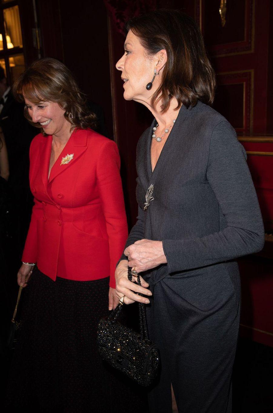 La princesse Caroline de Monaco avec Ségolène Royal à Paris, le 24 janvier 2019