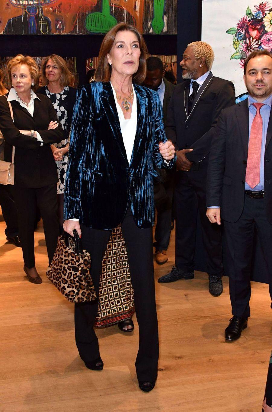 La princesse Caroline de Monaco à Londres, le 1er octobre 2018
