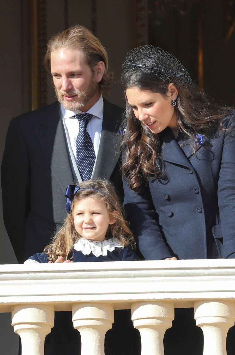 Andrea Casiraghi et Tatiana Santo Domingo avec leur fille India à Monaco, le 19 novembre 2018