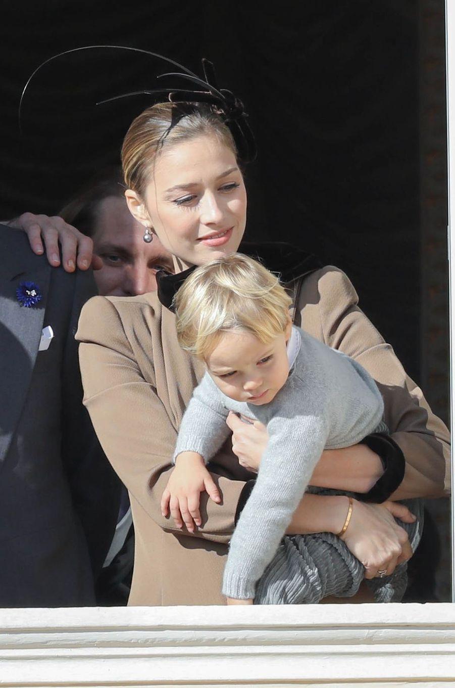 Beatrice Borromeo-Casiraghi et son fils Stefano à Monaco, le 19 novembre 2018