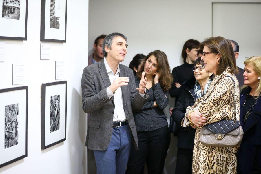 La princesse Caroline de Hanovre visite la nouvelle exposition du NMNM à Monaco, le 25 janvier 2018