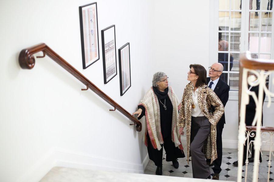 La princesse Caroline de Hanovre au NMNM à Monaco, le 25 janvier 2018