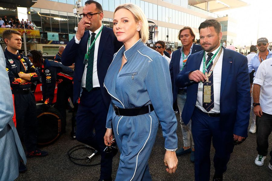 La princesse Charlène de Monaco à Abu Dhabi, le 1er décembre 2019