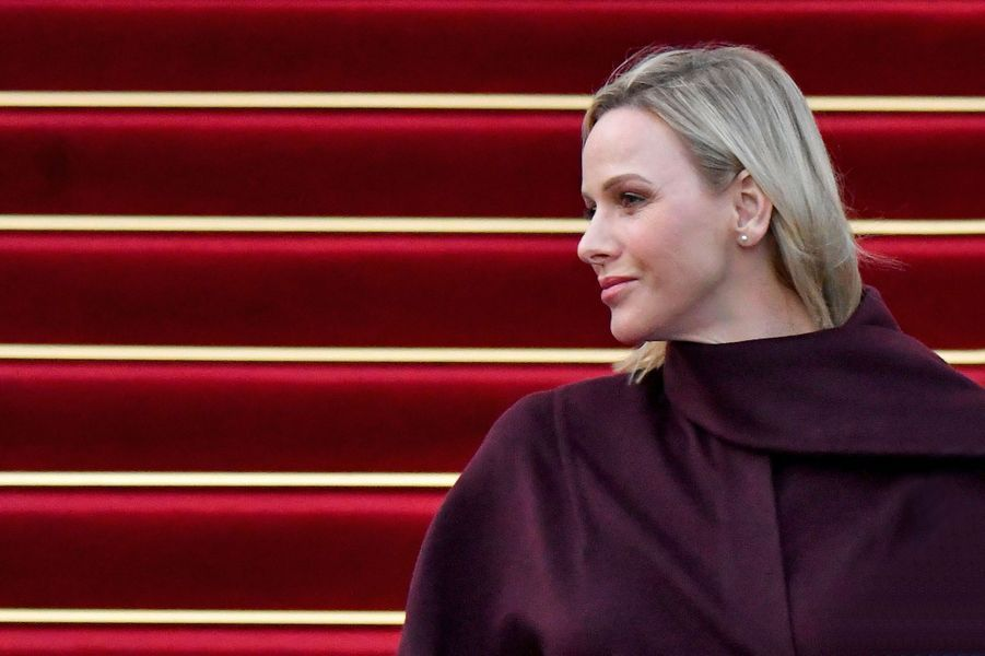 La princesse Charlène de Monaco à Monaco, le 8 mars 2020